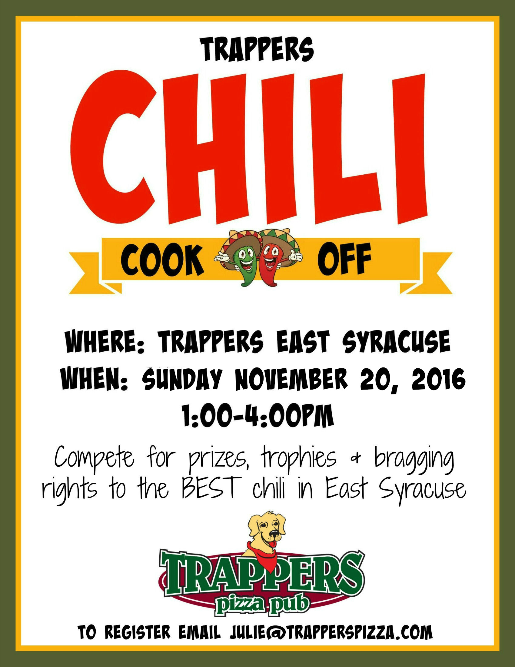Chili cook off flyer template chili cook off images the best trappers chili cook off chili cook off flyer template xflitez Choice Image